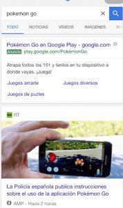 Captura de la pantalla de un móvil.